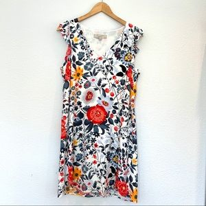Loft Flowerbed Floral Shift Dress, Size MP